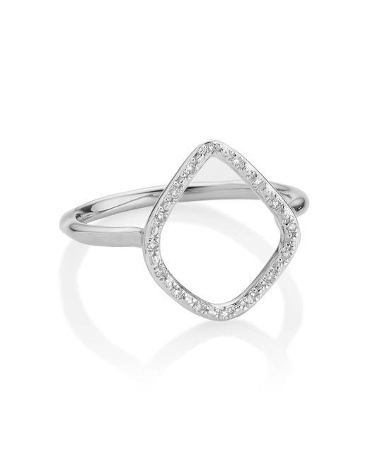 Monica Vinader | Metallic Riva Diamond Hoop Ring | Lyst