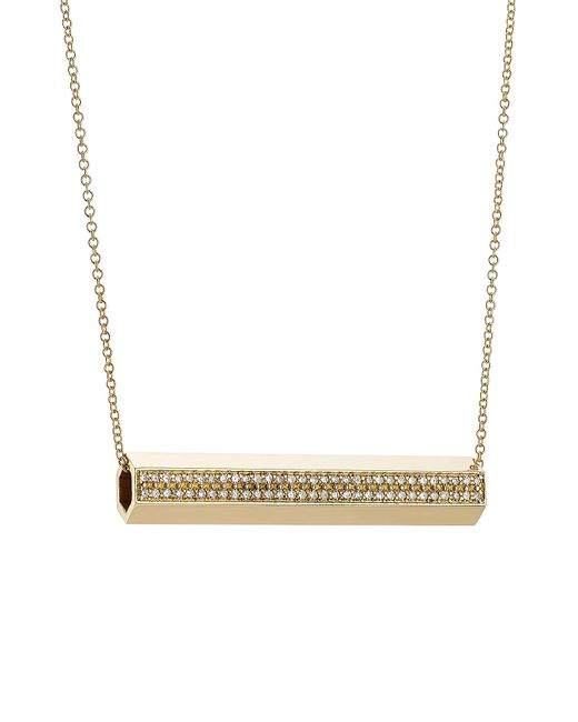 Ileana Makri | Metallic 18-karat Gold Pipe Necklace With Diamonds | Lyst