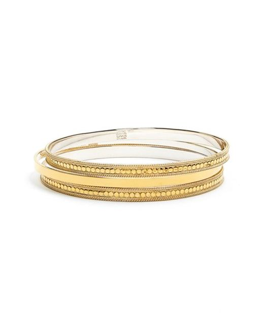 Anna Beck | Metallic 'gili' Bangles (set Of 3) | Lyst