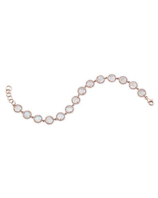 Anne Sisteron | Pink 14kt Rose Gold Rainbow Moonstone Bracelet | Lyst