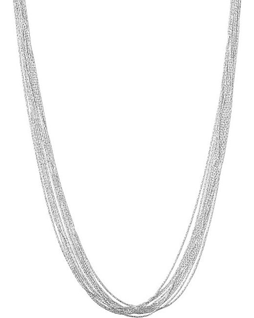 Links of London | Metallic Silk 10 Row Necklace | Lyst