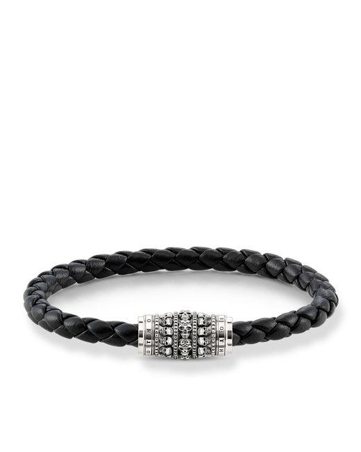 Thomas Sabo | Black Plaited Skull Unity Bracelet for Men | Lyst