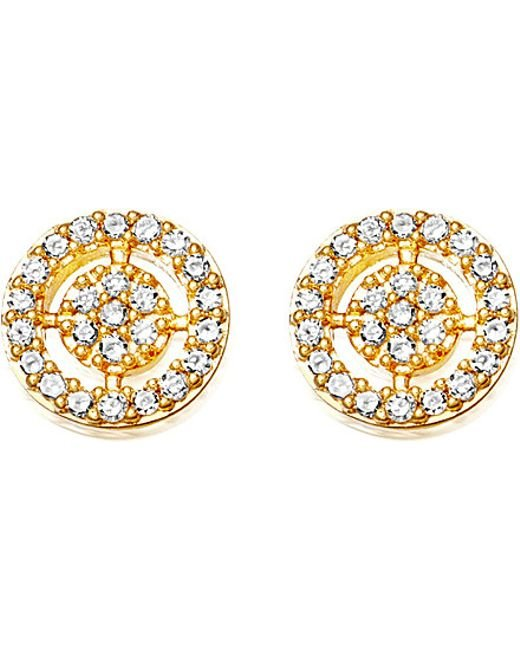 Astley Clarke | Metallic Mini Icon Aura 14ct Yellow Gold And Diamond Stud Earrings | Lyst