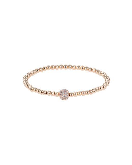 Mikey | Metallic Daisy Crystal Flower Elastic Bracelet | Lyst