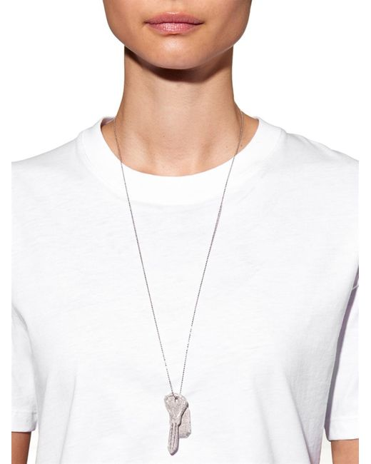 Carolina Bucci | Metallic Sparkly White-Gold Looking Glass Necklace | Lyst