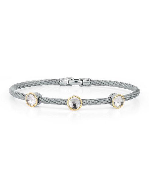 Alor | Metallic Triple Topaz Station Cable Bracelet | Lyst