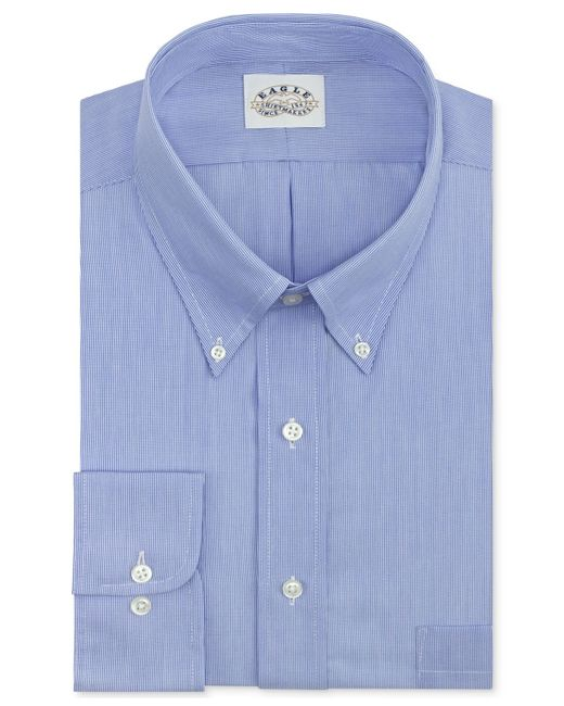 Eagle Men's Big & Tall Classic-fit Non-iron Blue Feather ... - photo #39