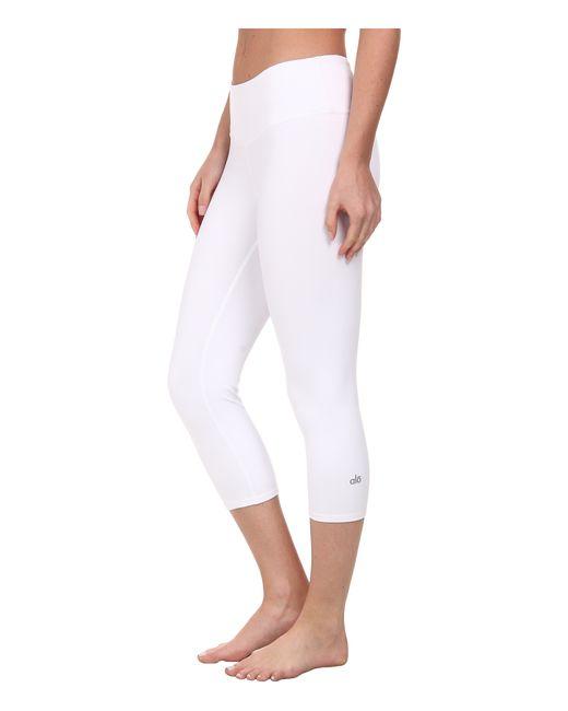 Alo Yoga | White Airbrushed Capri | Lyst