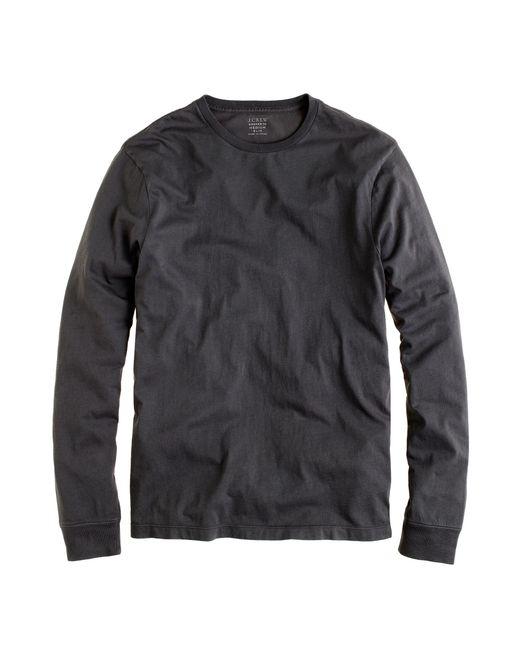 J.Crew | Black Slim Broken-in Long-sleeve T-shirt for Men | Lyst