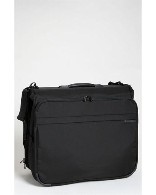 Briggs & Riley | Black 'baseline - Deluxe' Garment Bag for Men | Lyst