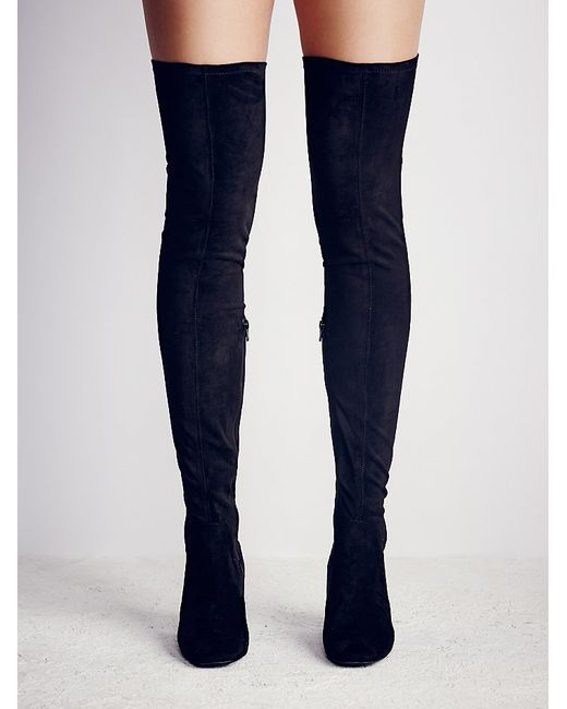 free parkway thigh high boot in black lyst