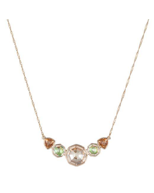 Aurora | Metallic Multi Colour Necklace | Lyst