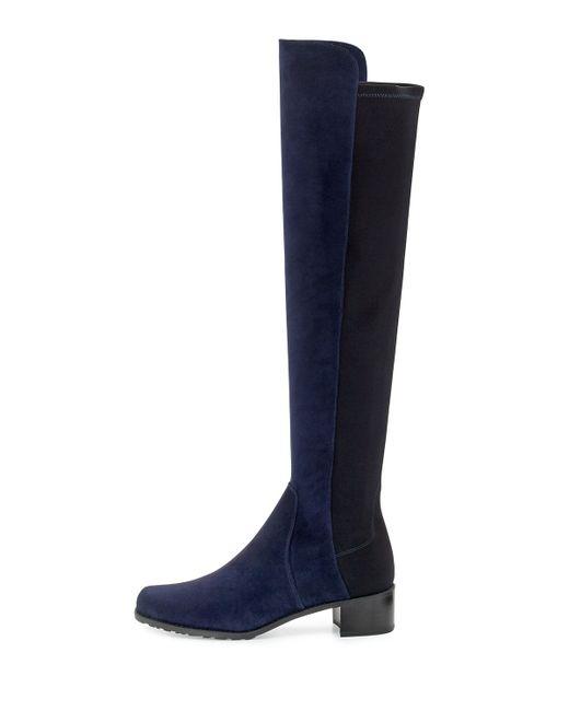 stuart weitzman reserve suede the knee boot in blue