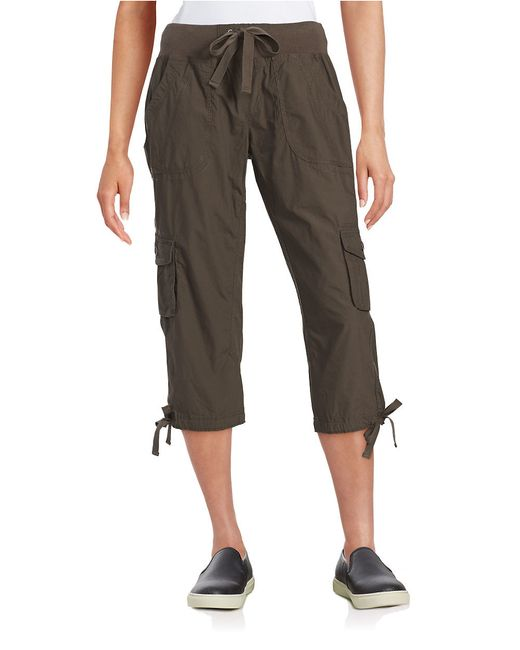Awesome Calvin Klein Cotton Cargo Pants In Gray  Lyst
