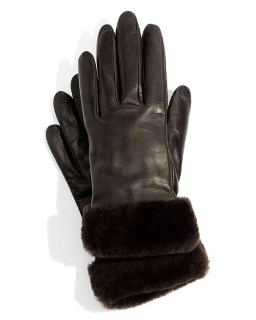 UGG | Brown Ugg Australia 'fashion Shorty' Tech Glove | Lyst
