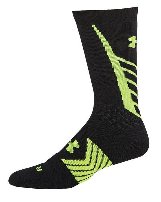 Under Armour | Black Undeniable Crew Socks for Men | Lyst