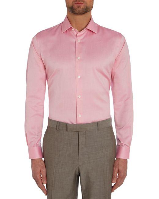 Richard James | Pink Plain Tailored Fit Long Sleeve Shirt for Men | Lyst