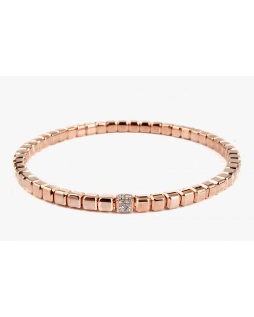 Tateossian | Quadro Cube Bracelet In 18k Rose Gold With White Diamonds for Men | Lyst