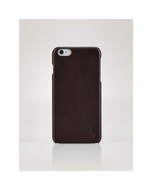 Polo Ralph Lauren   Black Leather Phone Case for Men   Lyst