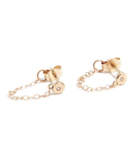 Melissa Joy Manning | Metallic Diamond Post Earring With Chain Wrap | Lyst