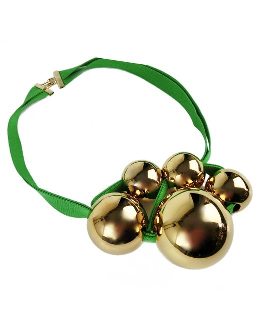 Marion Vidal   Green And Gold Necklace   Lyst