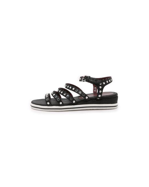 Marc Jacobs | Black Gena 5 Strap Nailhead Sandal | Lyst