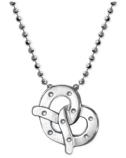 Alex Woo | Metallic Little Cities By Pretzel Pendant Necklace In Sterling Silver | Lyst