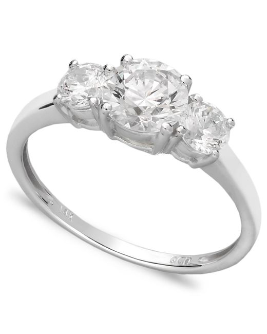 Arabella | White Swarovski Zirconia Small Three Stone Ring (2-3/8 Ct. T.w.) | Lyst