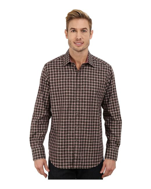 Robert Graham | Brown Waterford Long Sleeve Classic Fit Woven Shirt for Men | Lyst