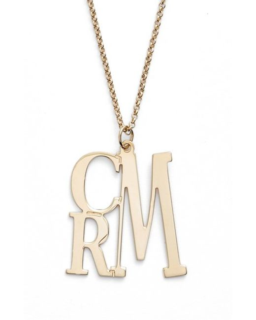 Argento Vivo | Metallic Personalized Three Initial Necklace | Lyst