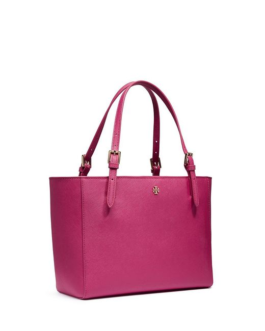 Tory Burch | Red York Small Buckle Tote | Lyst