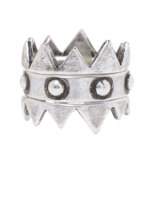 Jill Golden | Metallic Crown Stacking Rings | Lyst