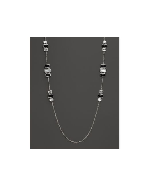 Ippolita | Black Sterling Silver Wonderland Stone By The Yard Necklace In Astaire, 36"