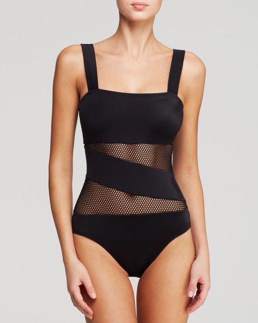 Dkny swimwear black bikini cover tie