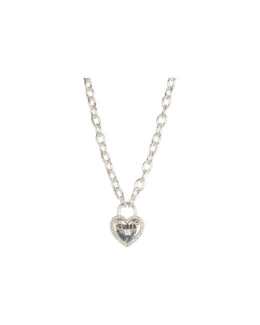 Guess | Metallic Framed Heart Necklace | Lyst