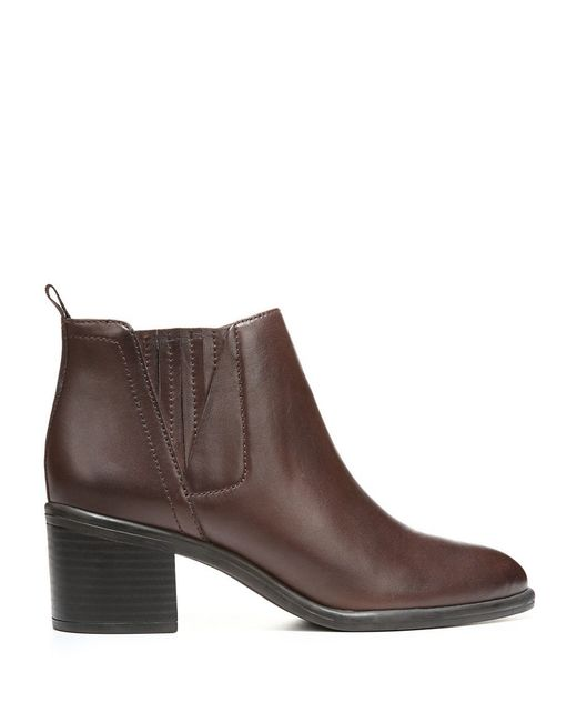 franco sarto emerge leather ankle boots in brown save 31