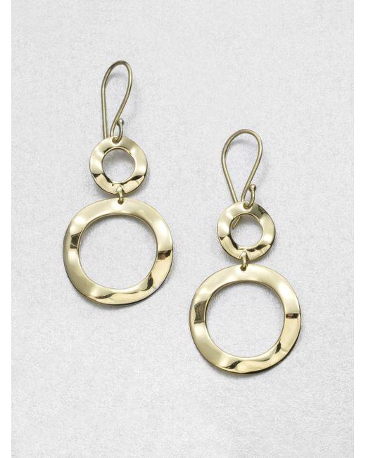 Ippolita | Metallic Sculptural Metal 18k Yellow Gold Mini Snowman Drop Earrings | Lyst