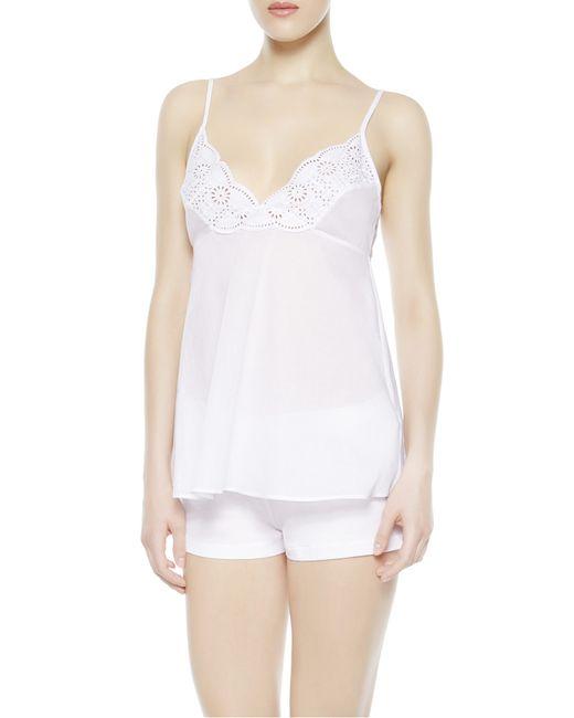 La Perla | White Vest Top And Shorts Pyjama Set | Lyst