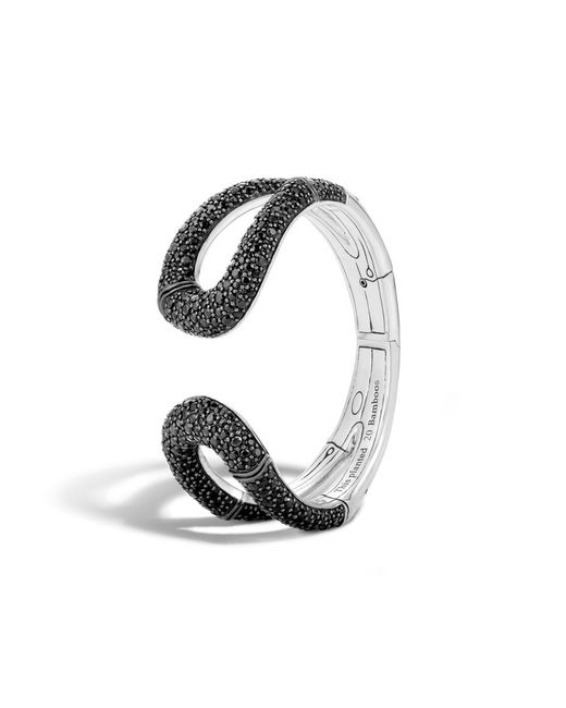 John Hardy | Hinged Cuff With Black Sapphire | Lyst