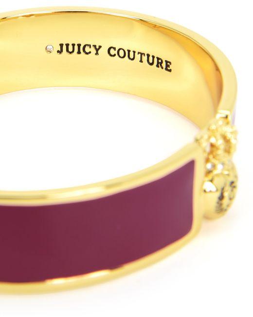 Juicy Couture | Purple Duchess Crest Heart Enamel Bangle | Lyst