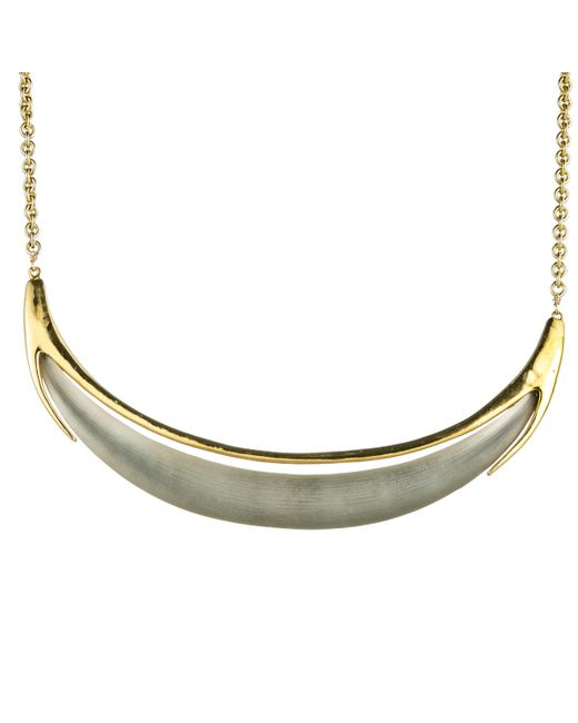 Alexis Bittar | Metallic Gold Crescent Necklace You Might Also Like | Lyst