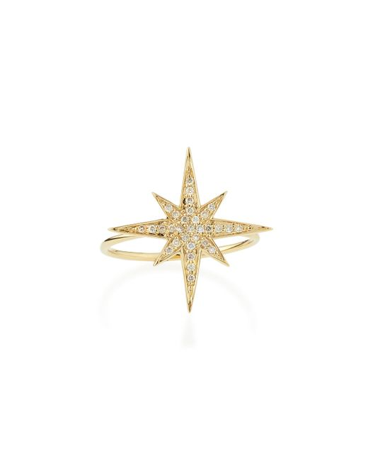 Sydney Evan | Metallic Medium 14k Yellow Gold Diamond Starburst Ring | Lyst