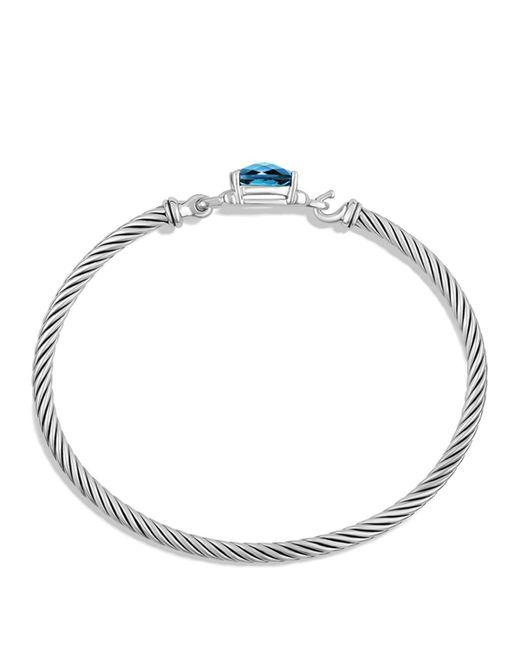 David Yurman | Petite Wheaton Bracelet With Hampton Blue Topaz And Diamonds | Lyst