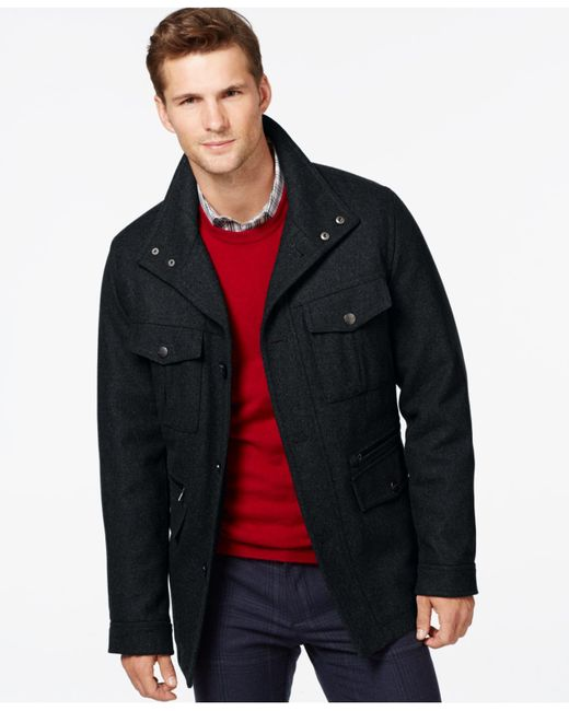 Michael Kors | Blue Michael Big & Tall Wool-blend Field Coat for Men | Lyst