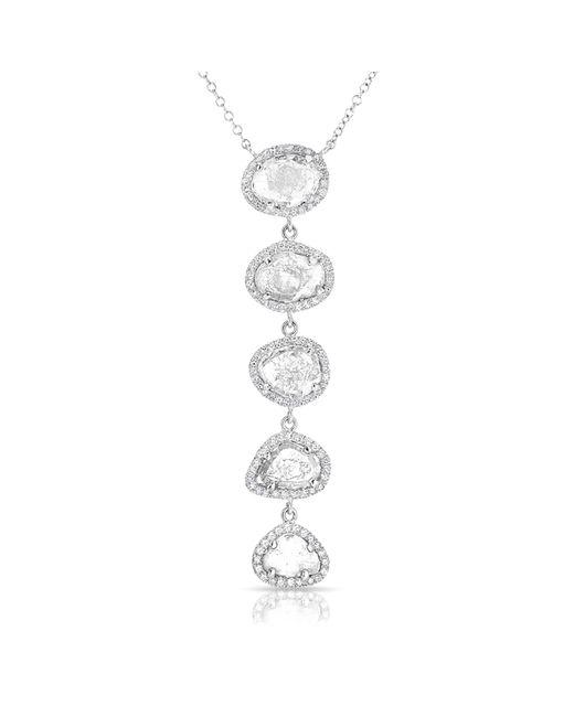 Anne Sisteron | Metallic 14kt White Gold Diamond Slice Drop Necklace | Lyst