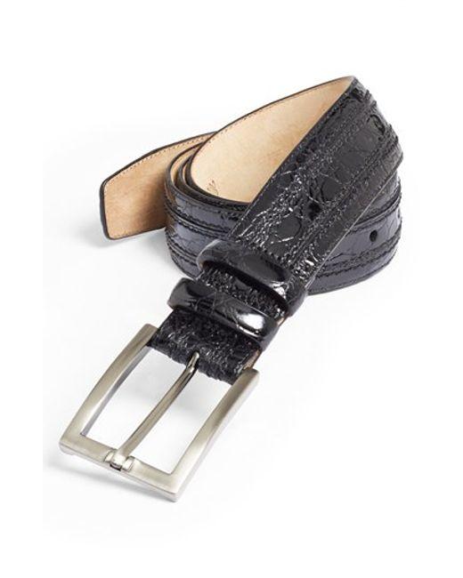 Mezlan | Black Crocodile Belt for Men | Lyst