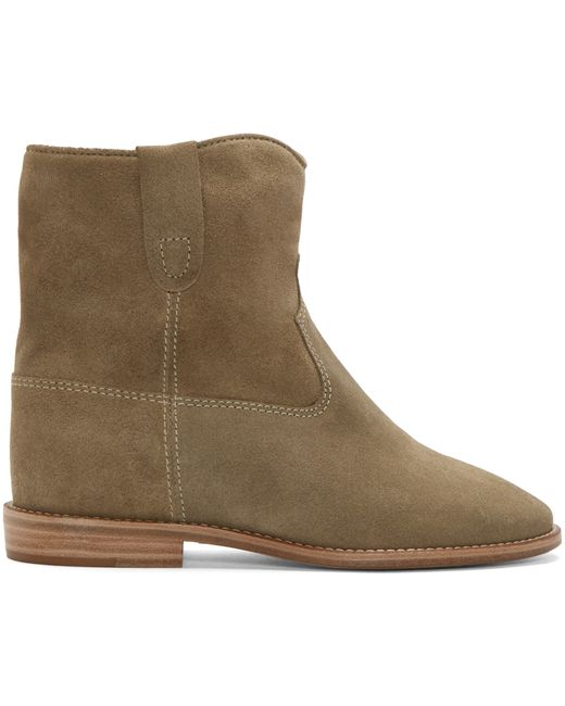 marant green suede crisi boots in green lyst