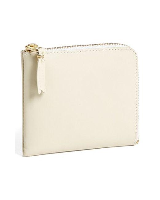 Comme des Garçons | White Half-zip Leather Wallet for Men | Lyst