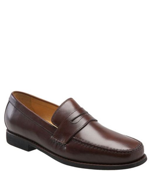 Johnston & Murphy | Brown 'ainsworth' Penny Loafer for Men | Lyst