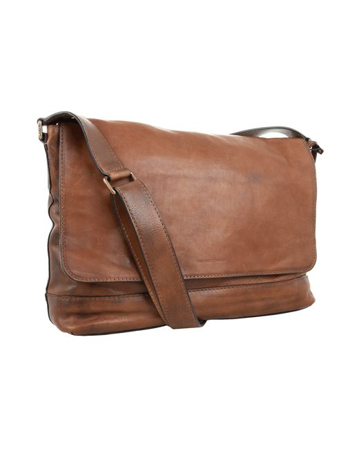 Frye Chris Leather Messenger Bag In Brown For Men Save 6